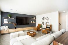 Formal Living Rooms, Home Living Room, Living Room Decor, Living Spaces, Basement Layout, Home Bar Designs, Living Room Flooring, Home Decor Bedroom, Home Remodeling
