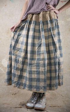 Mayblee Patchwork Skirt 073 France but ironed Fashion Moda, Boho Fashion, Girl Fashion, Womens Fashion, Pretty Outfits, Beautiful Outfits, Moda Natural, Mode Boho, Mori Girl