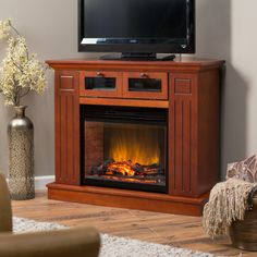 Have to have it. Kent Convertible Media Center 23 inch LED Electric Fireplace - Mahogany $379.98