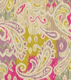Paisley, upholstery fabric, A traditional paisley with elegant color combination. Content: Cotton Width: 54 inches Fabric Type: Print Upholstery Grade: N/A Horizontal Repeat: N/A Vertical Repeat: