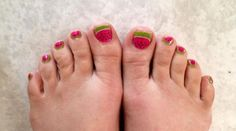 Watermelon Burst is totally cute on toes too!  Happy to provide free shipping on these sets - and my current #TBT promo is still active - PM me for details.   #Jamberry #NailWraps #ManiPedi #Manicure #Pedicure #PrettyNails #NailSwag #JamminNailsByKim #NailArt #NOTD #Beauty #DIYNails #DIYBeauty #DIYNailArt #Nails2Inspire #NailDesign #NonToxic #NonToxicBeauty #CleanBeauty #Vegan #CrueltyFree #TheLittleThings #Watermelon #WatermelonBurst