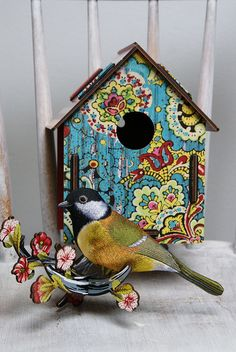 birdhouse ,miho design by dutch blue, via Flickr