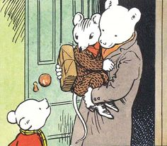 Rupert Bear - Mr Bear takes sleepy Willy Mouse home 90s Childhood, My Childhood Memories, Winnie The Poo, Bear Pictures, English Artists, Feeling Special, Books To Buy, A Comics