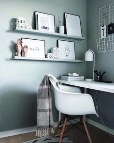 Most Popular Modern Home Office Design Ideas For Inspiration - Modern Interior Design Home Office Lighting, Home Office Space, Home Office Desks, Apartment Lighting, Bedroom Lighting, Ikea Decor, Decor Room, Tumblr Rooms, Home Office Organization