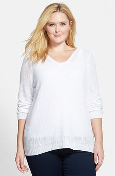 Eileen Fisher Hooded Organic Linen Top (Plus Size) available at #Nordstrom