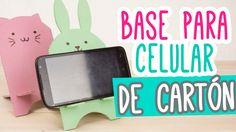 Base para Celular/Móvil de Cartón muy Kawaii ❤ | Porta Celular Manualida...
