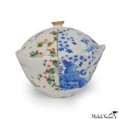 The Juxtaposed porcelain collection is made of fine bone china fusing both Eastern and Western design traditions in each piece for truly hyb...
