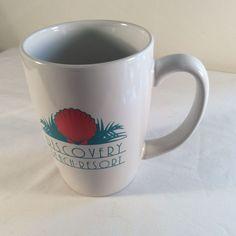 "M Ware Ceramic Coffee Tea Mug Cup Outside Words ""Discovery Beach Resort"" #MWARE"