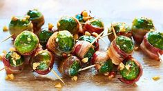 Image: Brussels sprouts wrapped in pancetta Christmas Side Dishes, Christmas Buffet, Christmas Lunch, Christmas Recipes, Christmas Foods, Christmas Treats, Aussie Christmas, Holiday Meals, Christmas Things