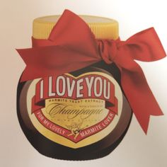 Marmite I Love You Champagne Limited Edition // For my Marmite lover. Yesterday it was Saint Matthew. Marmite, Yeast Extract, Magic Words, Food Themes, Food Packaging, Yummy Treats, Lovers, My Love, Matthew 3