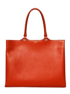 BRUSHED LEATHER TOTE BAG