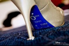 Must do for my Disney wedding shoes!! Via @Disney Weddings How adorable its these little touches that make a wedding special . This is my dream come true. #dreamcometrue