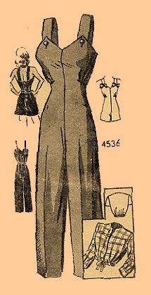 Overalls pattern 1940s repro by evadress