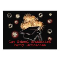 """Law School Graduation Party Invitation scales book 5"""" X 7"""" Invitation Card"""