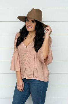 66b712775 Make A Scene Sage Crochet Lace Button Front Top - 2 Colors – Apricot Lane  Boutique