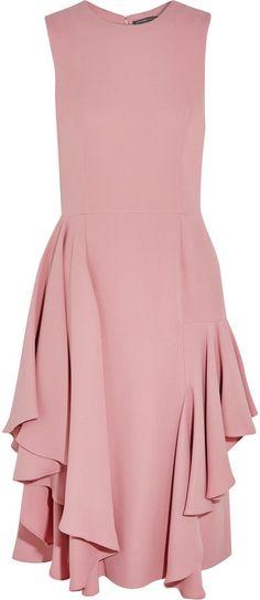 Alexander McQueen Alexander Mcqueen Ruffled Silk-Crepe Dress