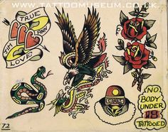Traditional Tattoo Reference, Vintage Tattoo Design, Tattoo Designs, Comic Books, Comics, Tattoos, Artwork, Photography, Animals