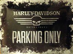 Harley-Davidson Parking Only Blechschild
