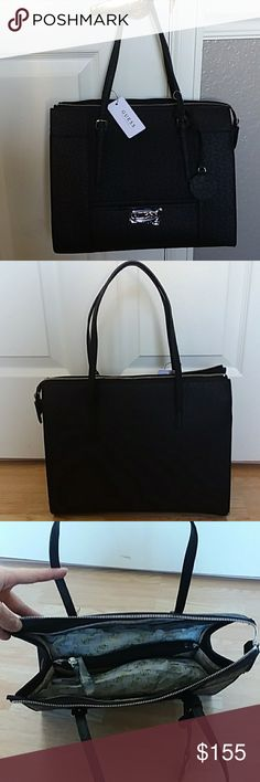 NWT GUESS Los Angeles purse (black) Brand new - with tags. Several inside pockets. Three main compartments. Inside zipper enclosure. Guess Bags Shoulder Bags