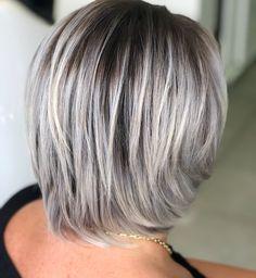 50 Gray Hair Styles Trending in 2020 - Hair Adviser Grey Hair Styles For Women, Hair Color For Women, Short Hair Styles, Gray Hair Women, Grey Blonde Hair, Short Grey Hair, Lavender Grey Hair, Lilac Hair, Pastel Hair