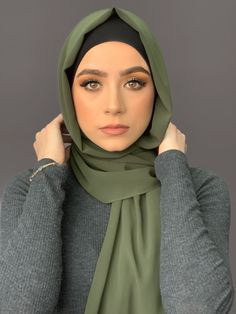 Our luxury chiffon hijabs are hand made with the finest non slip chiffon fabric. This high quality fabric will most definitely become your go to hijab. Measure approx 70 x 27 Beautiful Muslim Women, Beautiful Girl Image, Beautiful Hijab, Girl Hijab, Hijab Outfit, Hijab Niqab, Hijabi Girl, Hijab Dress, Swag Dress
