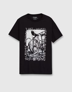 Front graphic T-shirt - T-shirts - Clothing - Man - PULL&BEAR Israel