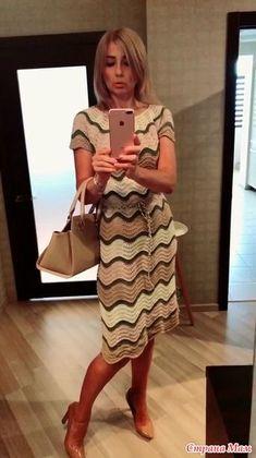 . Создала волну -платье - Вязание - Страна Мам