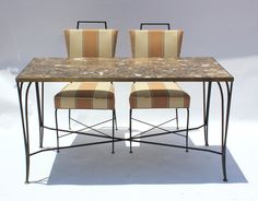 Arturo Pani Table and Chairs | From a unique collection of antique and modern dining room sets at https://www.1stdibs.com/furniture/tables/dining-room-sets/