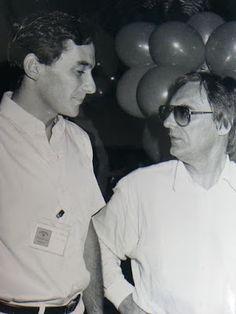 Ayrton with Ecclestone(1987)