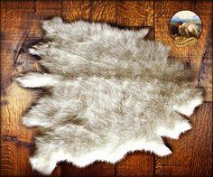 Buffalo Rug Deer Skin Bear Hide Faux Fur Accent Pelt Rug / Shaggy Sheepskin  / Carpet