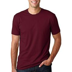Next Level NL3600 100% Cotton Premium Fitted Short Sleeve Crew Maroon Large - Brought to you by Avarsha.com