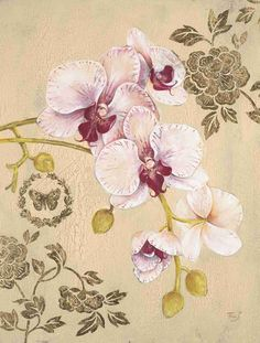 Gold Leaf And Orchid 1
