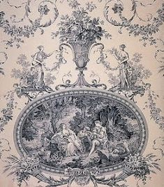 Love this representation of French wallpaper! (Toile du Jouy  joli  made  in  FRANCE)  com yo ,,,,,,*+
