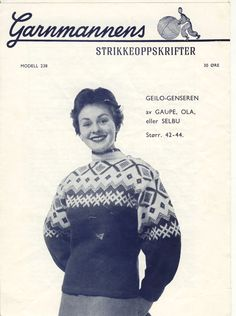 Geilogenseren 238 Norwegian Knitting, Color Combinations, Knitting Patterns, Jumpers, Knits, Colour, Vintage, Jackets, Threading