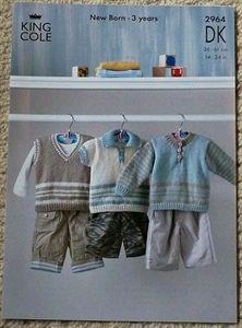 Babies Stripe Jumpers DK Knitting Pattern