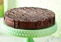 A decadent chocolate cake that's layered with passionfruit cream.