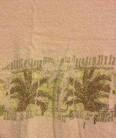 No Bad Days Beachside Mens Shirt Large Beige Palm Trees #NoBadDays #ShortSleeve