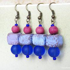 Indigo earrings  enjoy -15% for Mother day