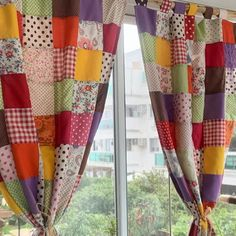 Patchwork Curtains, Crochet Curtains, Diy Curtains, Diy Sewing Projects, Quilting Projects, Sewing Crafts, Quilt Block Patterns, Quilt Blocks, Designer Bed Sheets