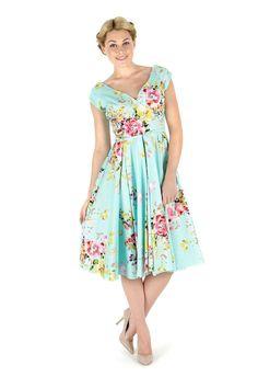 Polka Dot Hourglass Navy Pencil Dress | The Pretty Dress Company ...