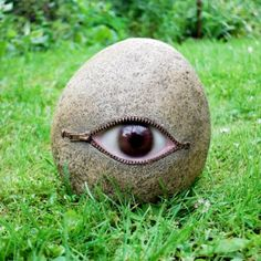 paint old bowling balls to look like eye balls