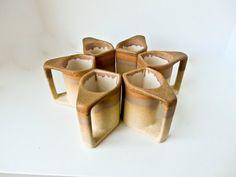 Mid Century Modern Coffee Mugs Padilla Signed Cups by BeeJayKay