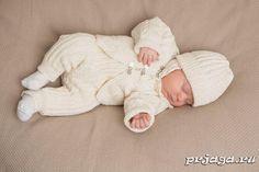 Костюм для новорожденных спицами