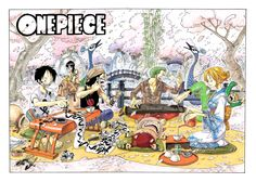 One Piece Color Spread : Chapter 269 (Nami looks so pretty in blue!! Is Zoro seriously playing an instrument?)
