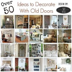 How To Decorate With An Old Door - Hi Loves, I trust you all survived the Holidays without any permanent damage?  We have company from Germany all month long an…