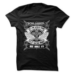 [Hot tshirt name tags] SCHLOSSER  Best Shirt design  SCHLOSSER)  Tshirt Guys Lady Hodie  TAG YOUR FRIEND SHARE and Get Discount Today Order now before we SELL OUT  Camping administrators