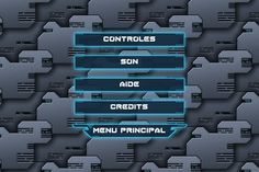 R-type 2D menu interface