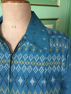 Een persoonlijke favoriet uit mijn Etsy shop https://www.etsy.com/listing/266246577/1950s-blue-lined-gabardine-winter-jacket