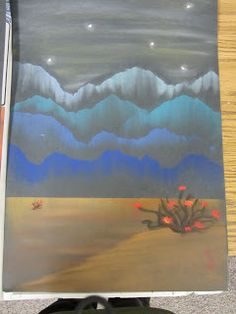 Lesson Plans: Chalk Pastel Mountain Landscapes