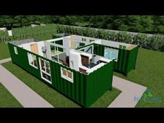 24 Ideas container house plans design for 2 x Container Home with Breezeway render . Shipping Container Buildings, 40ft Container, Container Office, Shipping Container Home Designs, Shipping Container House Plans, Storage Container Homes, Shipping Containers, Container Van House, Building A Container Home